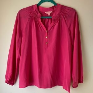 Lilly Pulitzer Elsa blouse (stains)